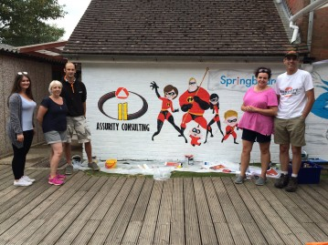 Assurity Consulting supporting Springboard charity in Horsham