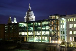 Thames Court Building at night