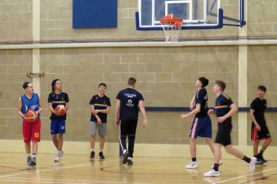 Collyers Basketball Team training session