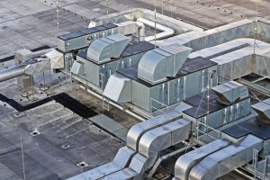 Ductwork on a roof